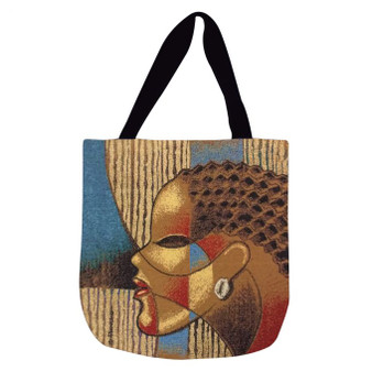 "Composite Of A Woman Woven Tote Bag--Larry ""Poncho"" Brown"