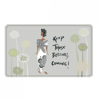 Keep Those Blessings Coming! Memory Foam Floor Mat --Cidne Wallace