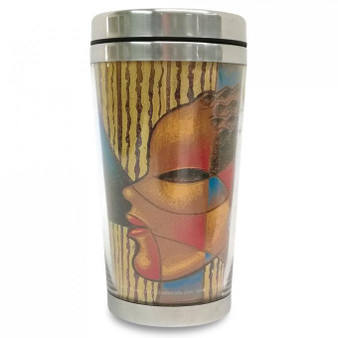 "Composite Of A Woman Travel Mug--Larry ""Poncho"" Brown"