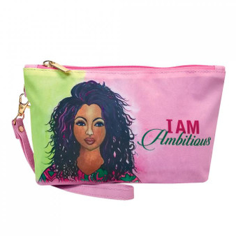 """I Am Ambitious (AKA) Cosmetic Pouch--Sylvia """"GBaby"""" Cohen"""
