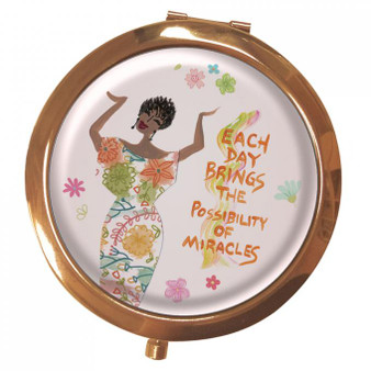 Each Day Brings The Possibility of Miracles Magnifying Compact Mirror--Cidne Wallace