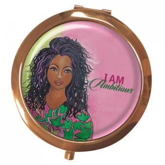 I Am Ambitious (AKA) Magnifying Compact Mirror --Kiwi McDowell