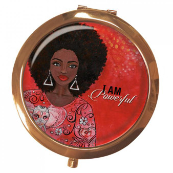 I Am Powerful (DST) Magnifying Compact Mirror --Kiwi McDowell
