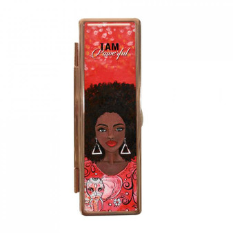 "I Am Powerful (DST) Lipstick Mirror Case-- Sylvia ""GBaby"" Cohen"