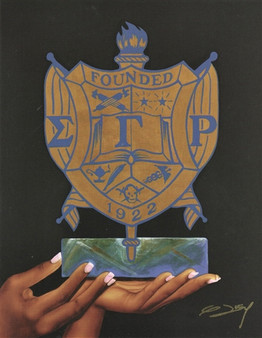 """Pride and Dignity"" (Sigma Gamma Rho) 8x10 Art Print--Gerald Ivey"