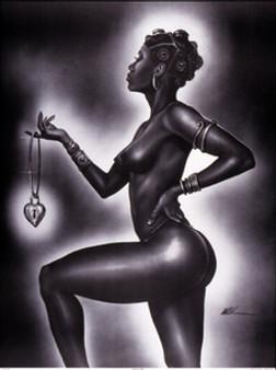 Lock and Key (Female) Mini Art Print - Kevin A. Williams - WAK