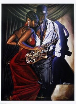 Sax Appeal - (27 x 37 In) -  Limited Edition - Kevin A. Williams - WAK