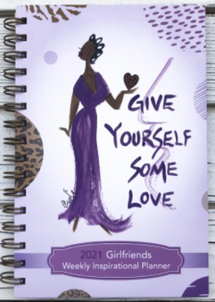 """Girlfriends"" 2021 Inspirational Weekly Planner by Cidne Wallace"