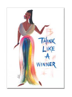 Think Like A Winner Magnet - Cidne Wallace