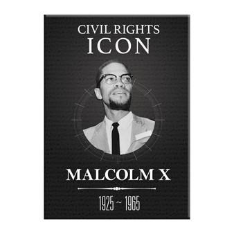 Malcom X Icon - Magnet