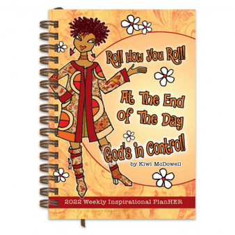 """""""God's in Control"""" 2022 Inspiration Weekly Planner by Kiwi McDowell"""