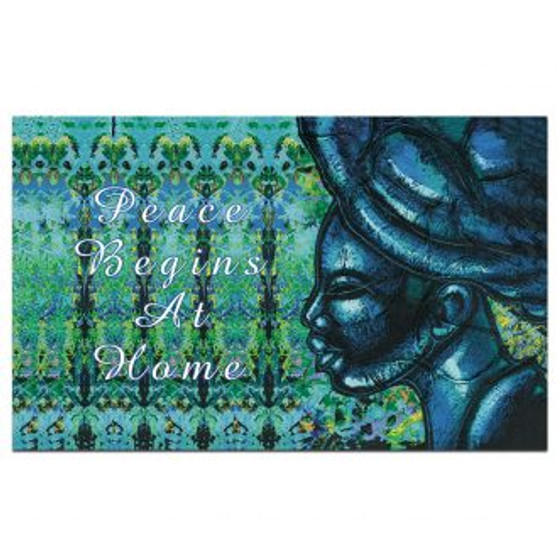 "Peace Begins at Home Interior Floor Mats --Larry ""Poncho"" Brown"