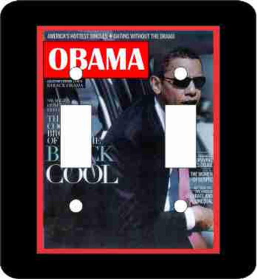 Obama Double  Light Switch Cover-Black Cool