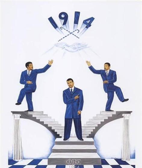 Phi Beta Sigma Pride  (8x10) Art Print-- Johnny Myers
