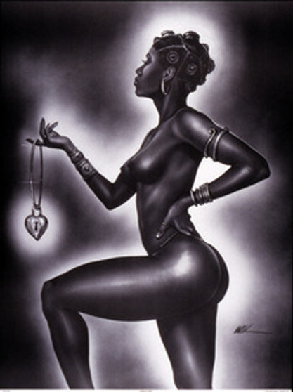 Lock and Key (Female) Mini Art Print - Kevin A. Williams - WAK