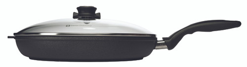 "XD Induction Fry Pan with Lid - 12.5"" (32 cm) - - side with cover"