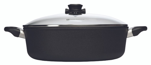 Swiss Diamond - XD Induction Braiser with Lid - 32 cm (6.8 L) -  Side