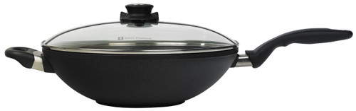 "XD Induction Nonstick Wok with Lid 12.5"" (32cm) - Side"