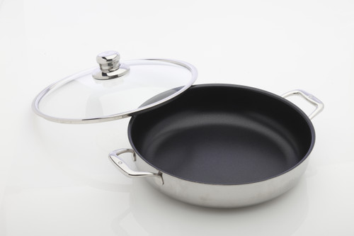 Nonstick Clad - Chef Pan with Lid 32 cm - front