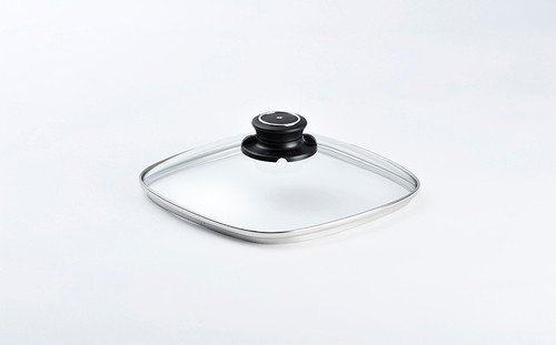 "8 X 8"" SQUARE TEMPERED GLASS LID - 20X20CM    - Cover"