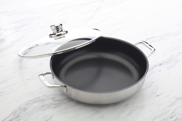 Nonstick Clad - Chef Pan with Lid 32 cm - front2