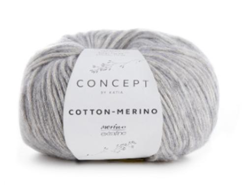 106 Light Grey Cotton Merino