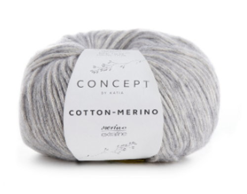 106 Light Grey Cotton Merino