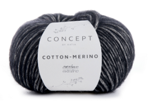 108 Black Cotton Merino
