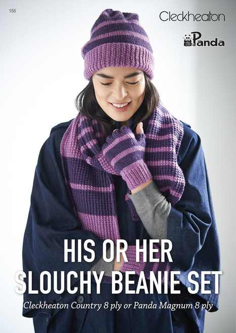 Cleckheaton His or Her Slouchy Beanie Set