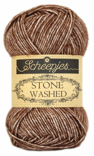 Scheepjes Stone Washed - Brown Agate 822