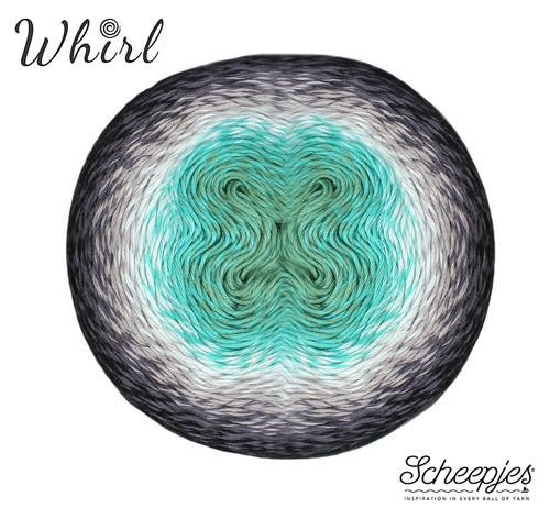 Scheepjes Whirl - Minty Black Velvet 785