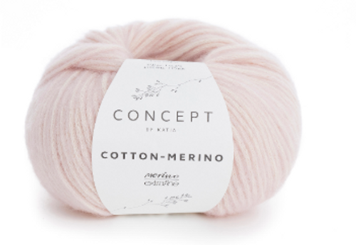 103 Very Light Rose Cotton Merino