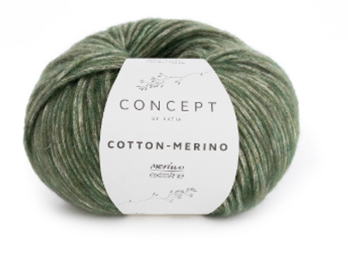 122 Pale Green Cotton Merino