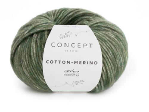 122 Pale Green Cotton Merino