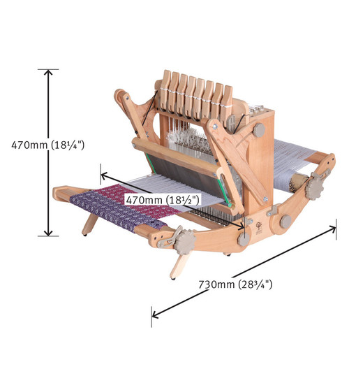 """Katie Table Loom Eight Shaft 30cm/12"""" with Carry Bag"""