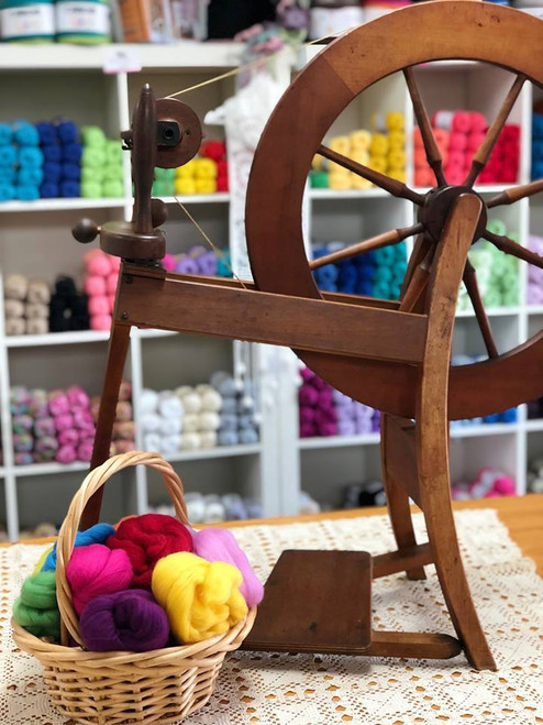 Introduction to Spinning on a Wheel Workshop Saturday 24th April 10am till 12pm