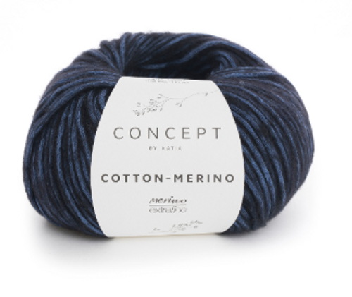 57 Night Blue Black Cotton Merino