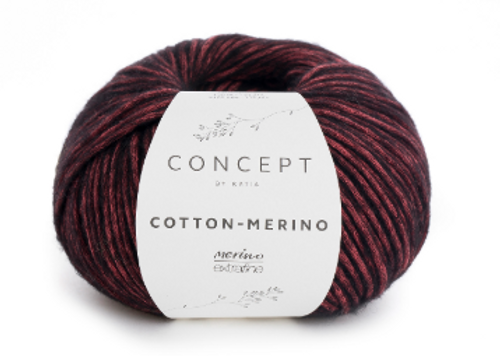 53 Black Red Cotton Merino