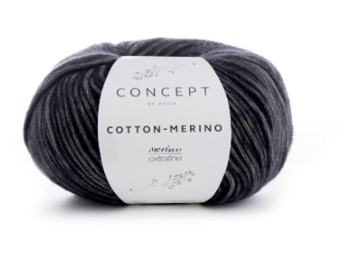 50 Grey Black Cotton Merino