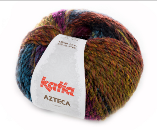 7854 Black-Lilac-Blue-Orange-Yellow Azteca