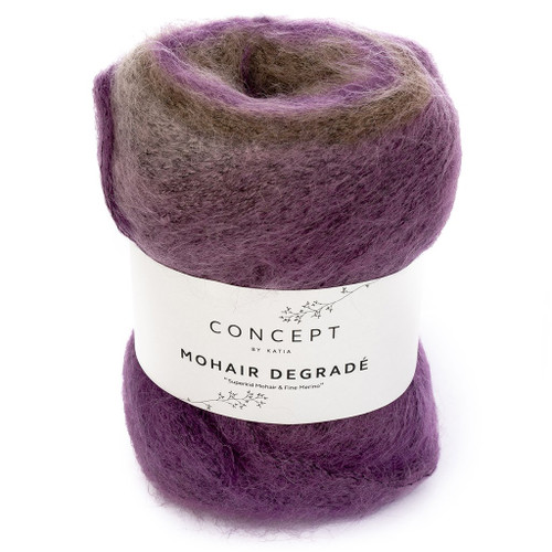 64 Beige-Rose-Pearl Blackberry Mohair Degrade