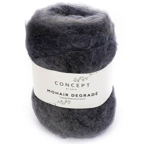 60 Blue-Beige Mohair Degrade