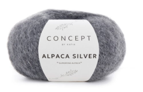 256 Dark Grey Alpaca Silver