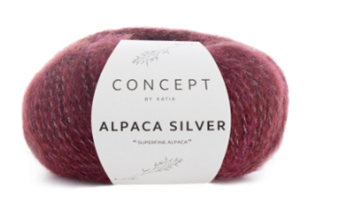 259 Burgundy Red Alpaca Silver