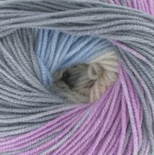 203 Mauve-Salmon-Grey Merino Baby Plus