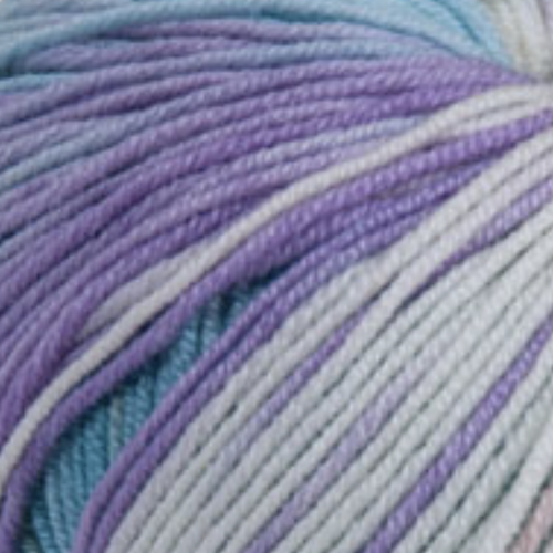 214 Salmon-Blue-Mauve Merino Baby Plus