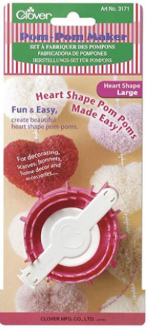 Clover Pom Pom Maker - Large Heart Shape
