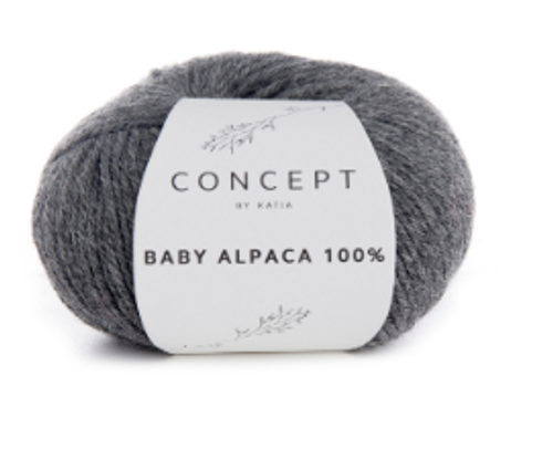 Baby Alpaca 100% - 504 Medium grey