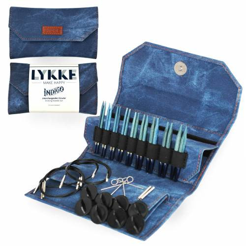 Lykke INDIGO 3.5inch Interchangeable Circular Knitting Needle Set