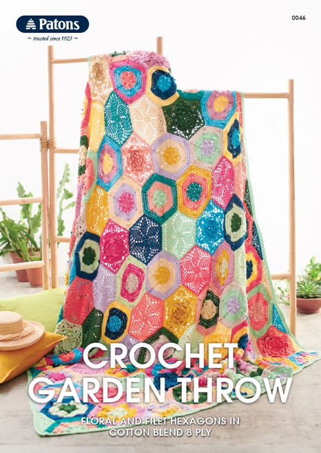 Patons Crochet Garden Throw